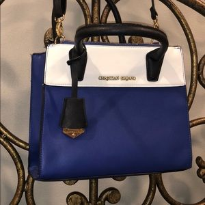 Blue & white purse
